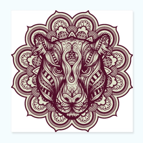 Mandala Tiger - Poster 8 x 8 (20x20 cm)