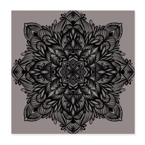 Naturbelassenes Mandala - Poster 20x20 cm