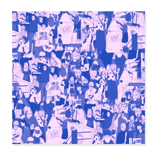 People - Poster 20x20 cm