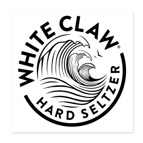 white claw beer - Poster 8 x 8 (20x20 cm)