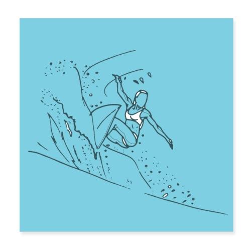 Surfeuse - Poster 20 x 20 cm