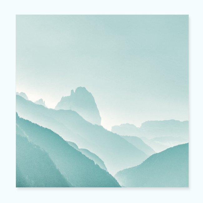 Minimalist zen mountains pastel
