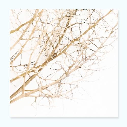 Grass beige minimalism watercolor nature - Poster 8 x 8 (20x20 cm)