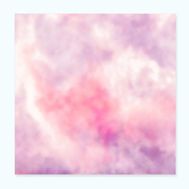 Pink clouds watercolor sky
