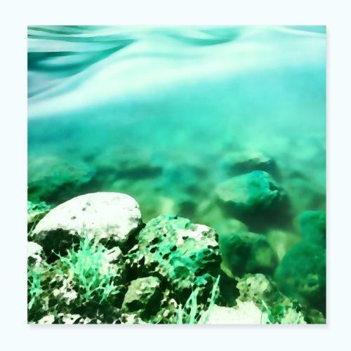 Zen beach watercolor minimalism - Poster 8 x 8 (20x20 cm)