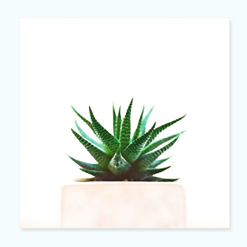 Simple plant minimalism watercolor - Poster 8 x 8 (20x20 cm)