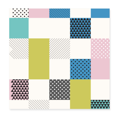 Abstract art squares - Poster 8 x 8 (20x20 cm)