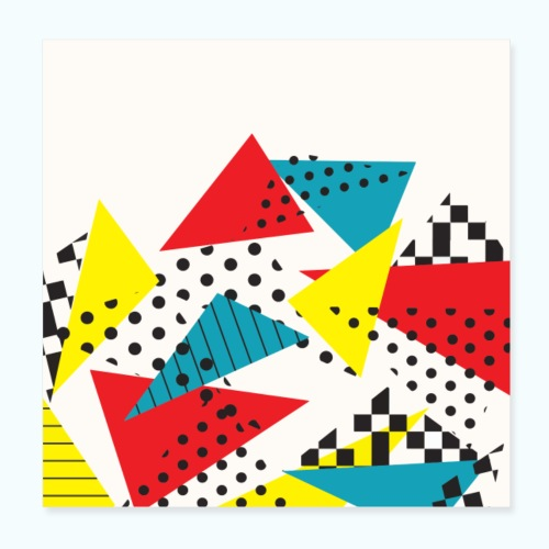 Abstract vintage collage - Poster 8 x 8 (20x20 cm)