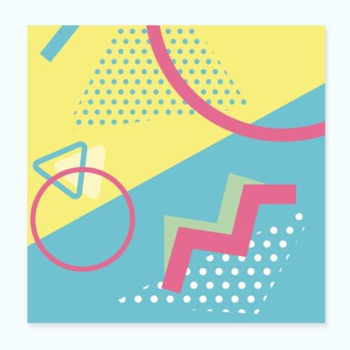 Pastel turquoise geometry - Poster 8 x 8 (20x20 cm)