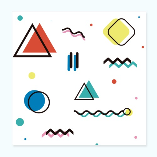 Abstract geometry - Poster 8 x 8 (20x20 cm)