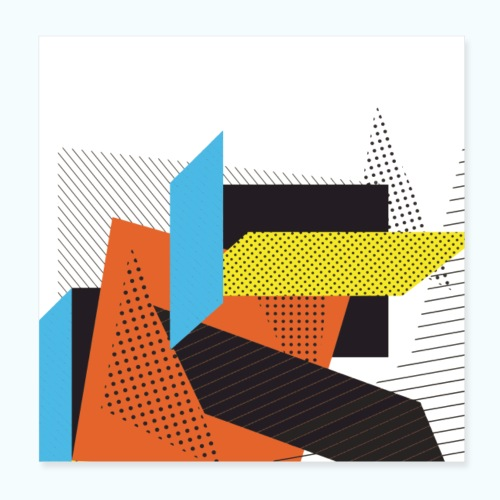 Vintage shapes abstract - Poster 8 x 8 (20x20 cm)