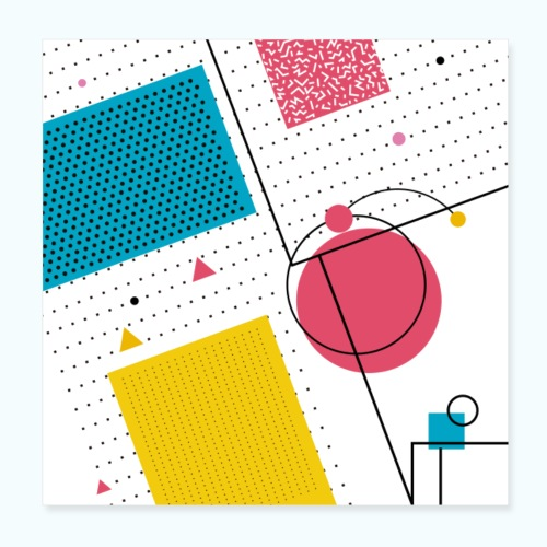 Colors shapes abstract - Poster 8 x 8 (20x20 cm)
