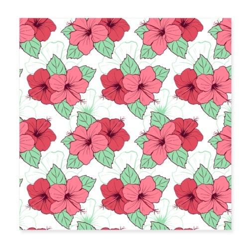 Blumen Malerei Kunst Kunstwerk Muster - Poster 20x20 cm