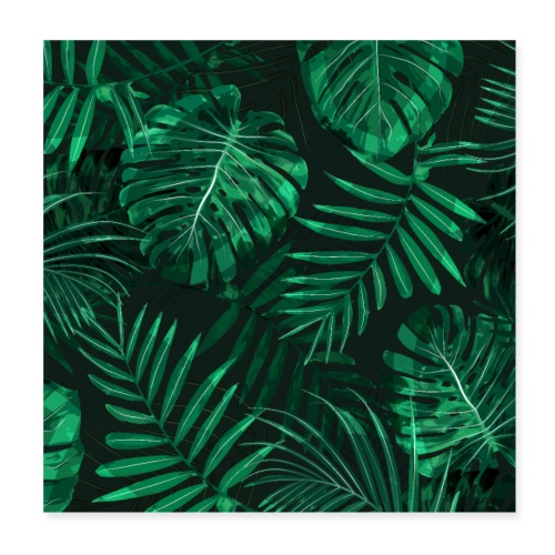 Tropischer Farn Topen Regenwald Blätter - Poster 20x20 cm
