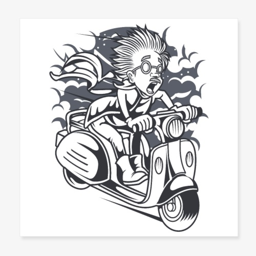 Roller Wissenschaftler - Poster 20x20 cm