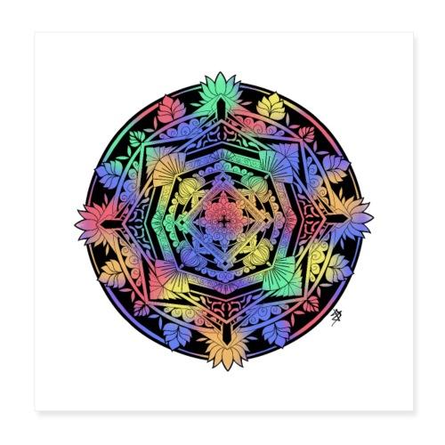 Mandala Colorful - Poster 20 x 20 cm