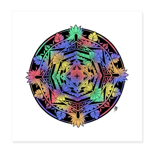 Mandala Colorful - Poster 20 x 20 cm