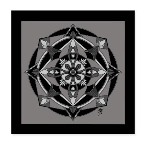 Mandala Mosaïque - Poster 20 x 20 cm