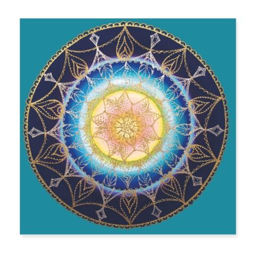 SoulArt Mandala Sternenkind - Poster - Poster 20x20 cm