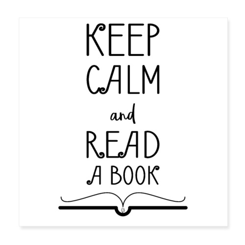 0275 Keep calm and read a book - Poster 8 x 8 (20x20 cm)
