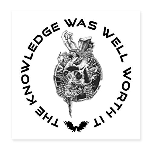 Knowledge WhiteSkull - Juliste 20 x 20 cm