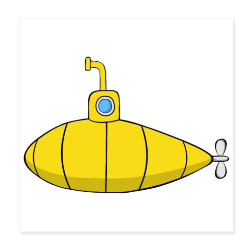 Submarine - Póster 20x20 cm