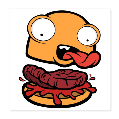 Crazy Burger - Póster 20x20 cm