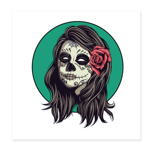 Tête de mort mexicaine - Poster 20 x 20 cm