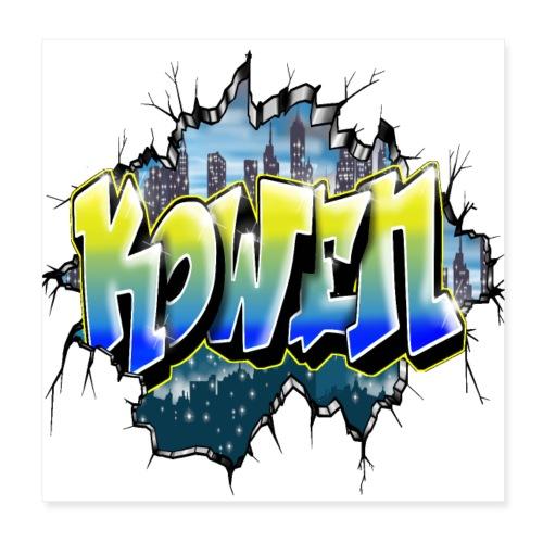 Kowen Graffiti Tag by Max le Tagueur - Poster 20 x 20 cm