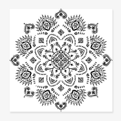 Mandala - Poster 8 x 8 (20x20 cm)