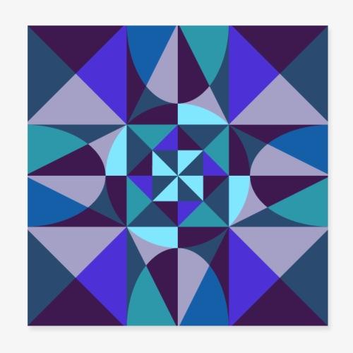 Geometric retro poster 01 - Plakat o wymiarach 20 x 20 cm