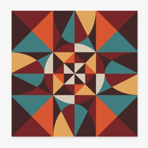 Geometric retro poster 02 - Plakat o wymiarach 20 x 20 cm