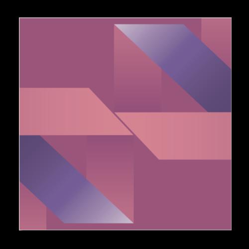 Abstrakt Geometrische Vintage Komposition - Poster 8 x 8 (20x20 cm)