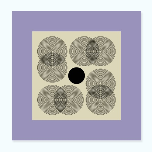 Geometric Mid Century Modern Composition - Poster 8 x 8 (20x20 cm)