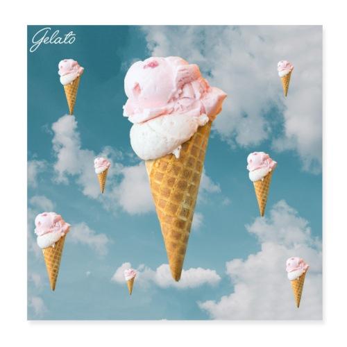 Gelato EP Cover - Poster 20x20 cm