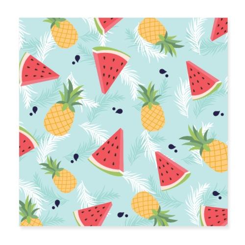 Summer Fruits - Poster 20x20 cm