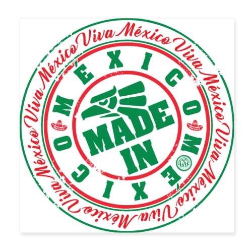 Made In México - Póster 20x20 cm