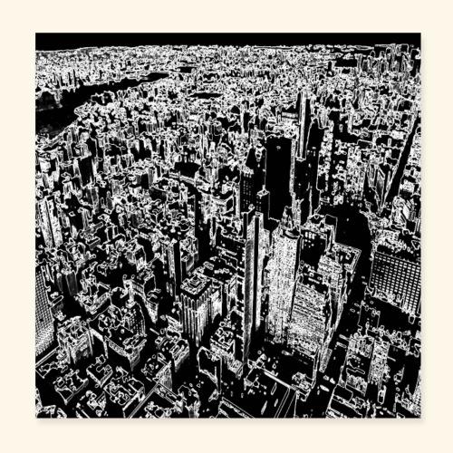 Manhattan a gessetto - Poster 20x20 cm