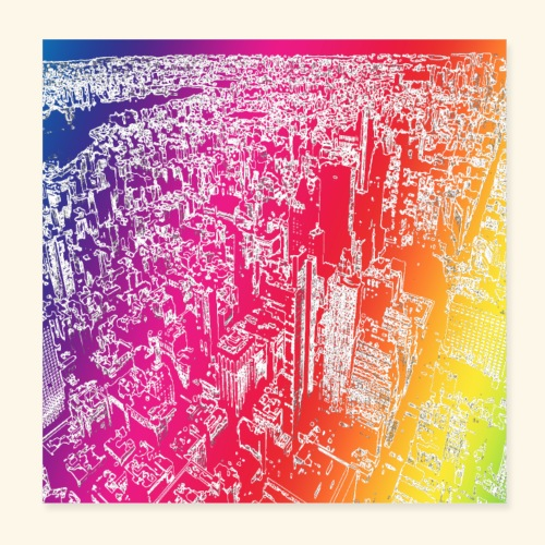 Manhattan arcobaleno - Poster 20x20 cm