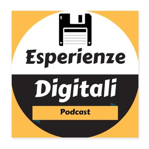 Logo Esperienze Digitali - Poster 20x20 cm