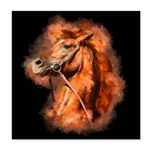 Thoroughbred horse - Poster 8 x 8 (20x20 cm)