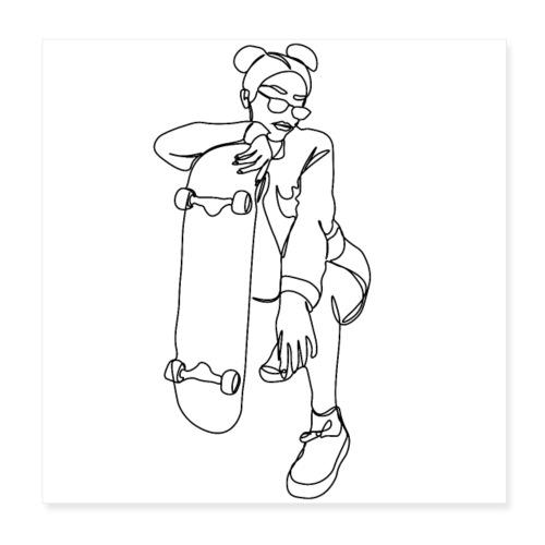 SKATER GIRL - Poster 20x20 cm