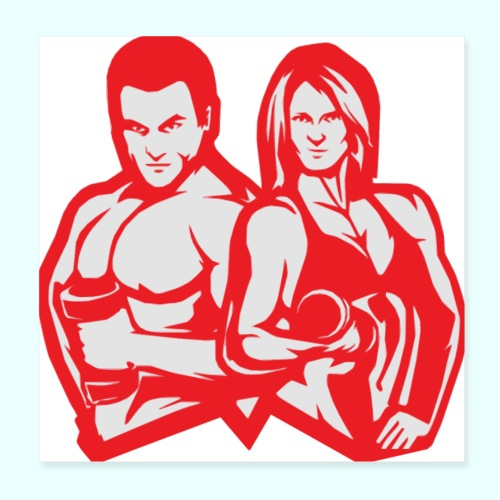 Man & woman NLB - Juliste 20 x 20 cm
