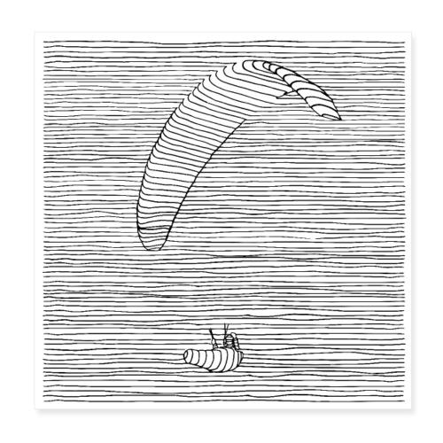 Paraglider - Poster 20x20 cm