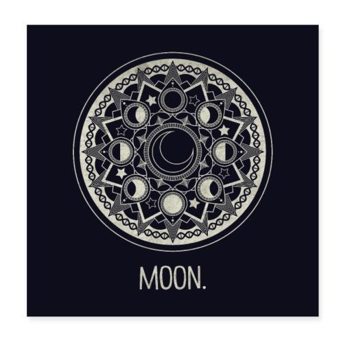 Mondmandala (hell) - Poster 20x20 cm