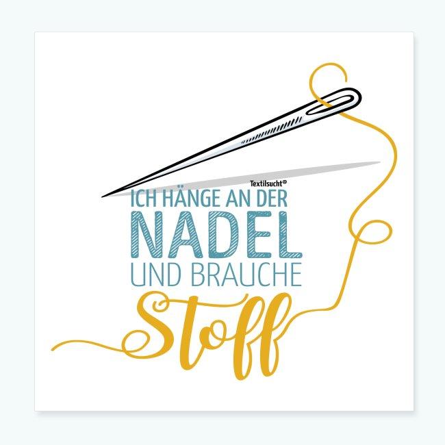 Nähen Nadel Frauen Spruch Handarbeit Poster