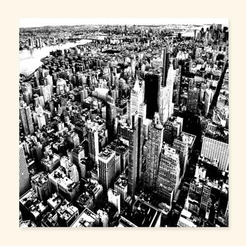Manhattan in bianco e nero - Poster 20x20 cm