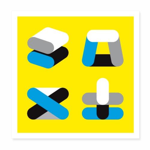 Vier Dinge - Poster 20x20 cm