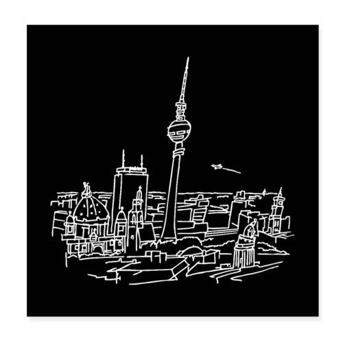 Berlin Panorama Poster - Poster 20x20 cm