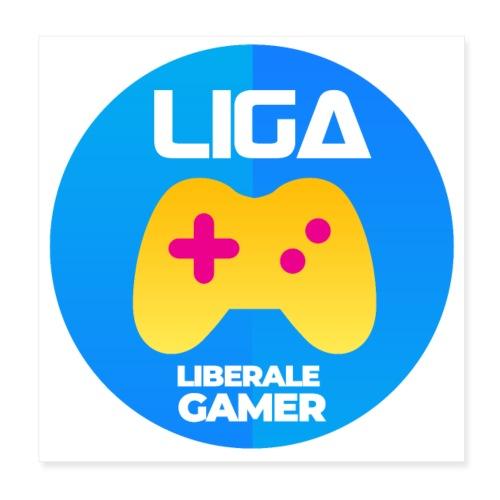Liberale Gamer Wappen - Poster 20x20 cm